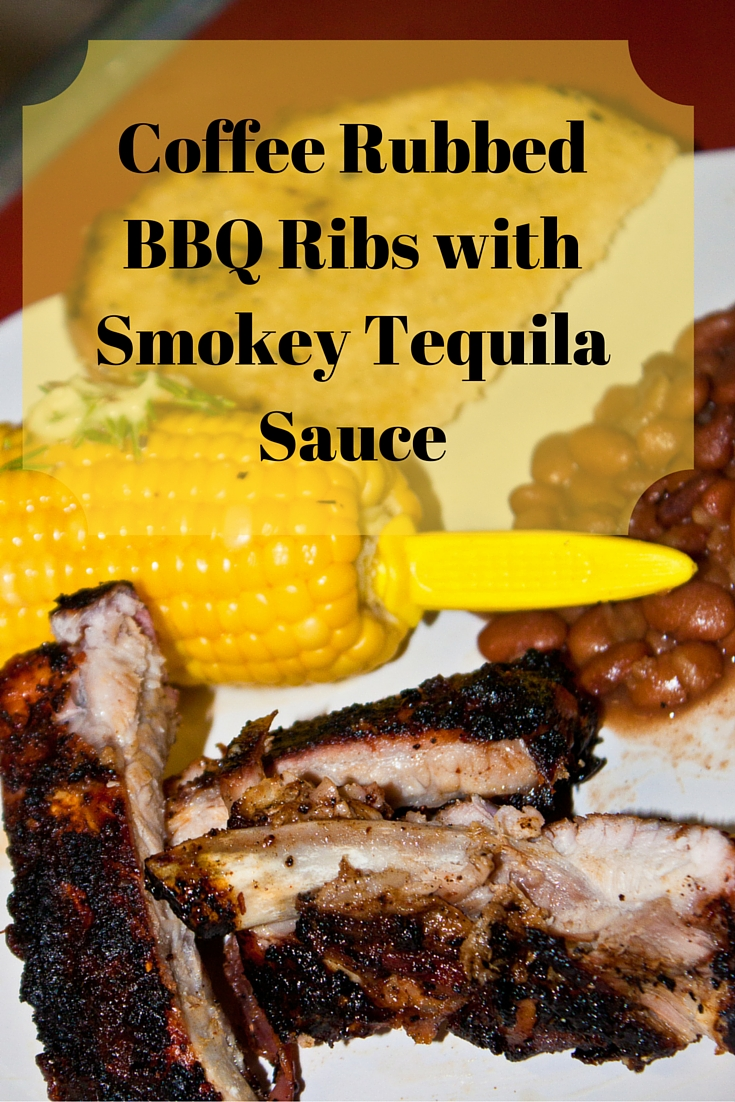 Coffee Rubbed Barbequed Ribs with Smokey Tequila Sauce
